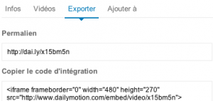 exporter dailymotion